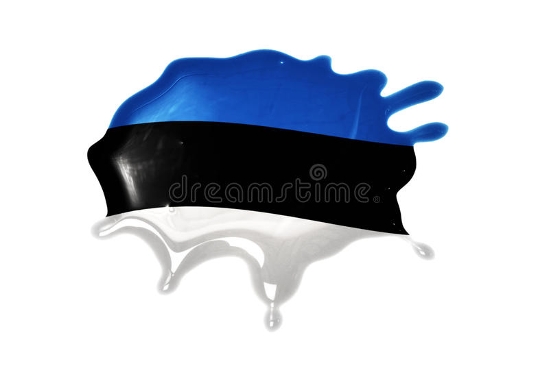 Blot with national flag of estonia. On the white background royalty free stock image