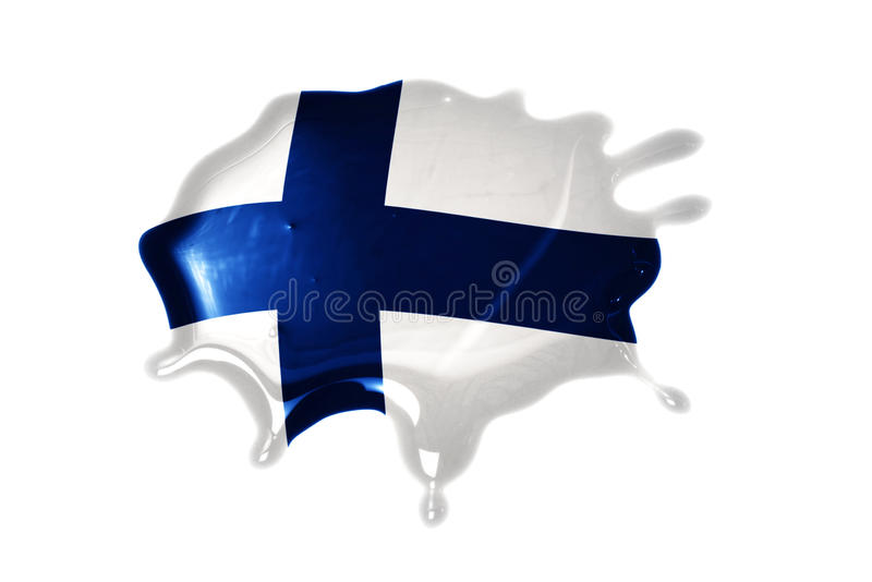 Blot with national flag of finland. On the white background royalty free stock images