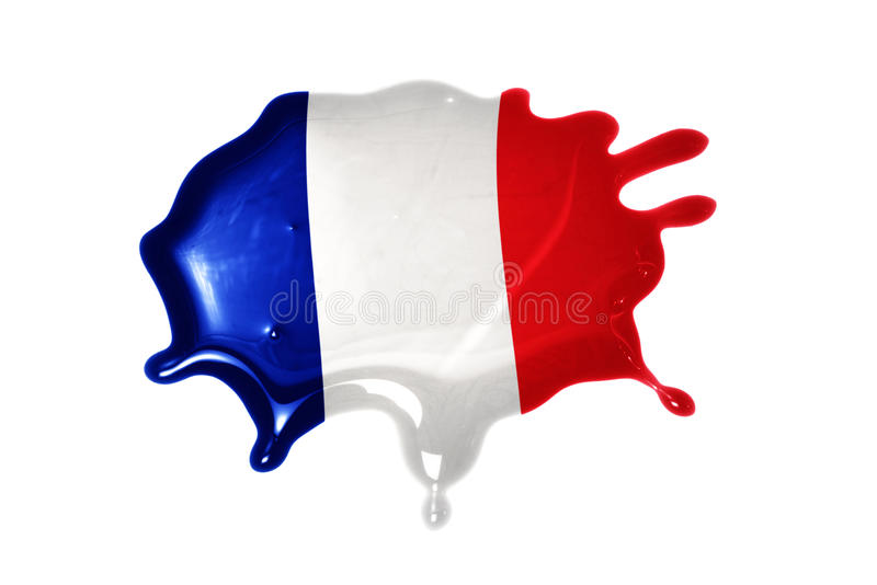 Blot with national flag of france. On the white background royalty free stock photography
