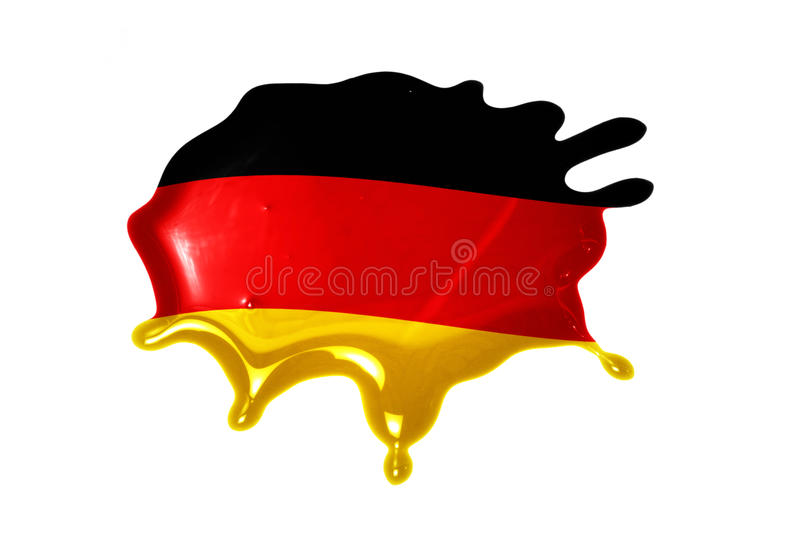 Blot with national flag of germany. On the white background stock image