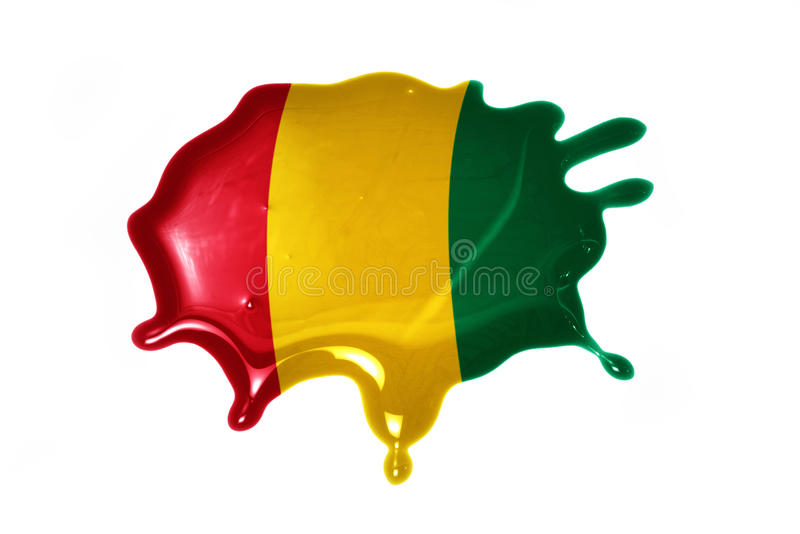 Blot with national flag of guinea. On the white background stock image