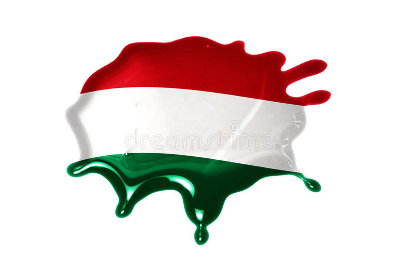 Blot with national flag of hungary. On the white background stock image