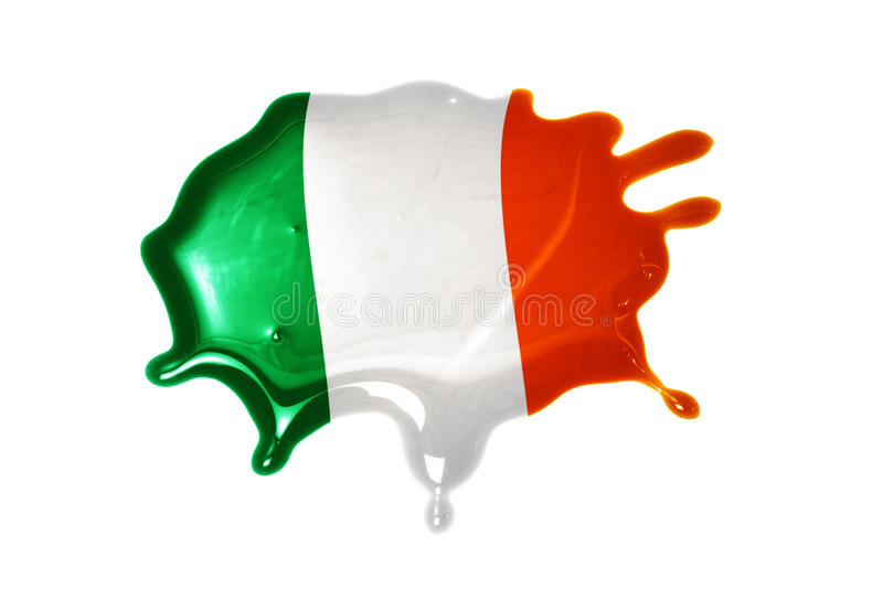 Blot with national flag of ireland. On the white background royalty free stock image