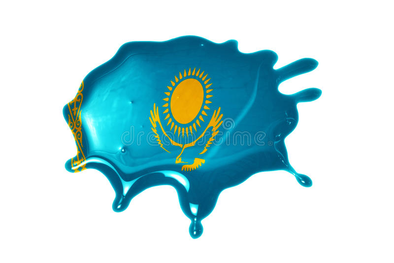 Blot with national flag of kazakhstan stock photography