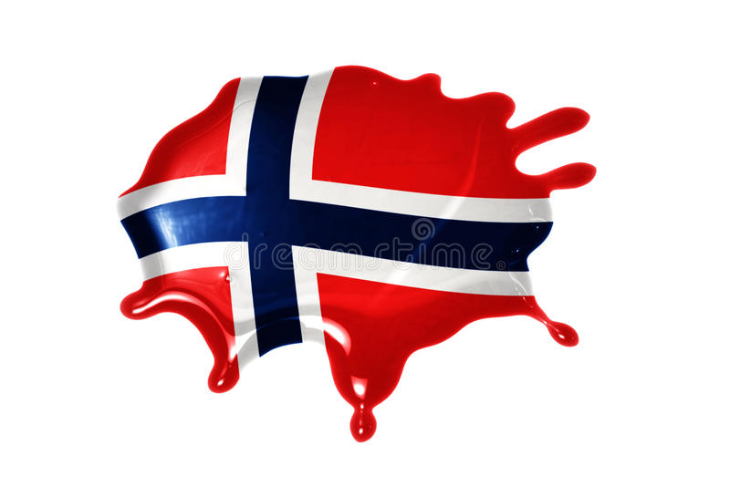 Blot with national flag of norway. On the white background stock photos