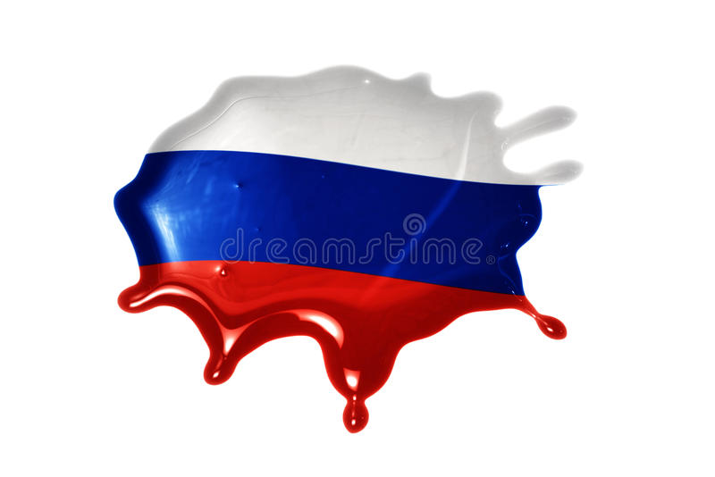 Blot with national flag of russia. On the white background royalty free stock image