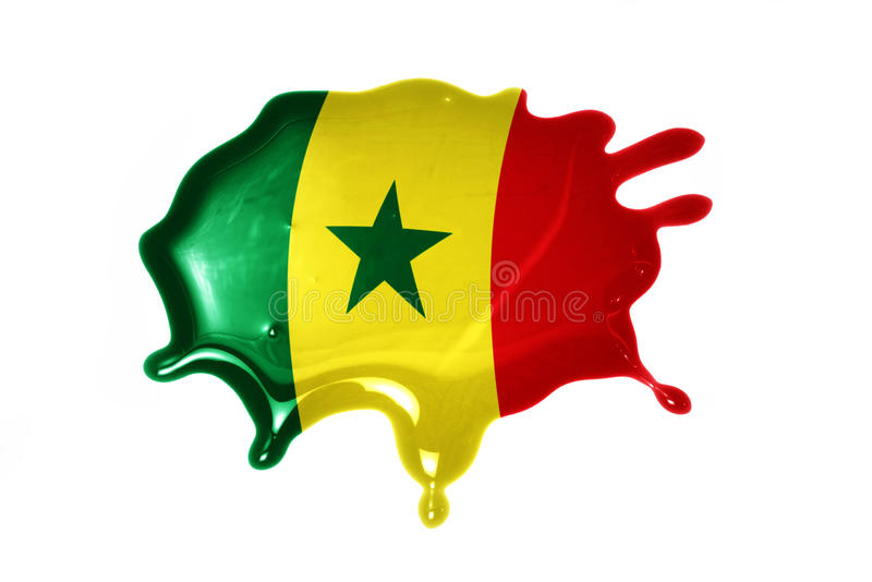 Blot with national flag of senegal. On the white background stock image