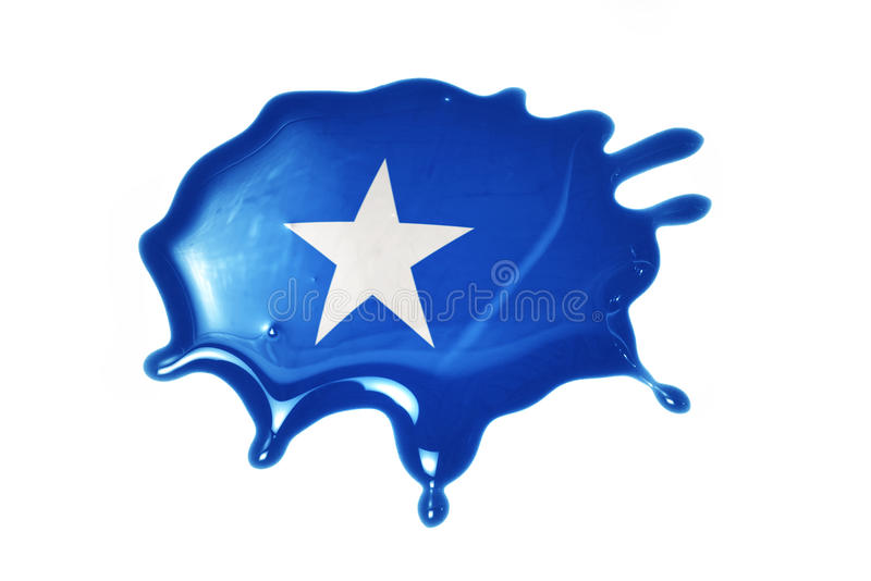 Blot with national flag of somalia. On the white background royalty free stock image