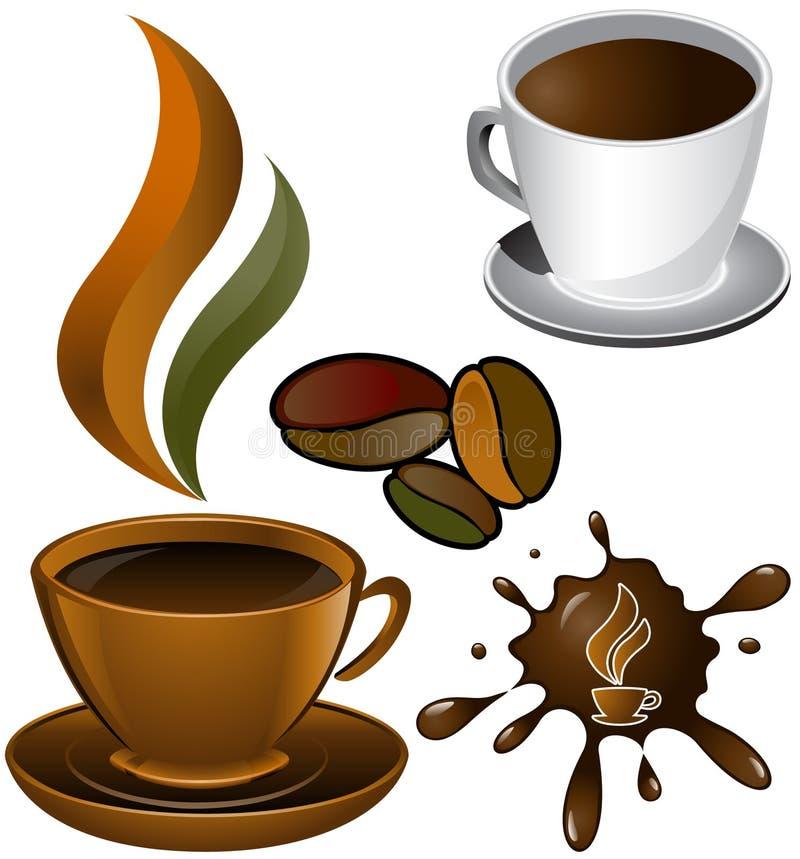 blotkaffekoppar två royaltyfri illustrationer