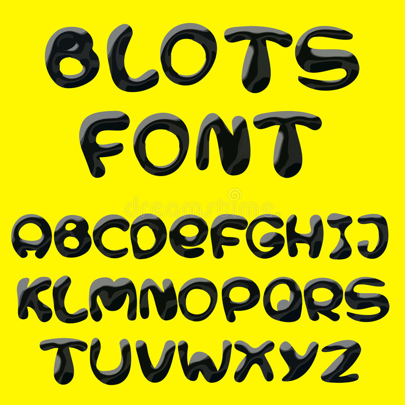 Blots alphabet vector illustration
