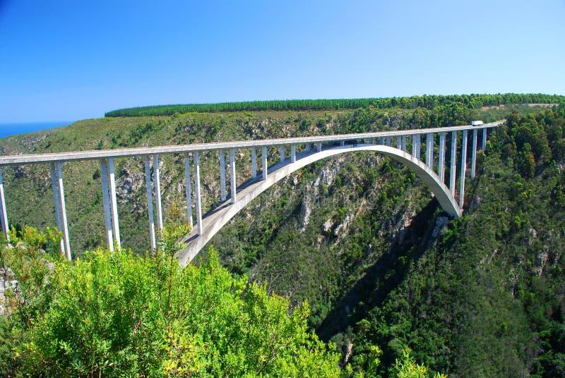 Bloukrans bro, Sydafrika arkivbild