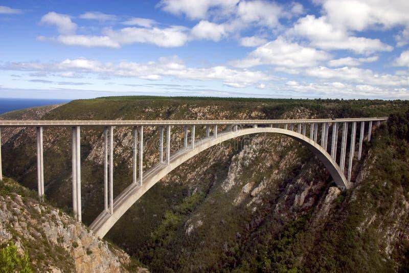 Bloukrans Fluss-Brücke stockfotografie
