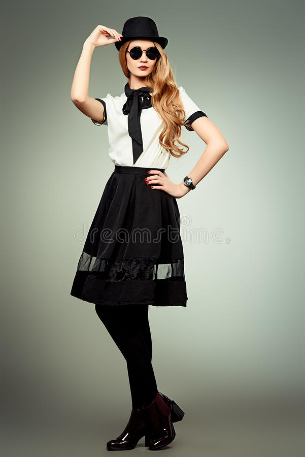 Blouse en rok stock afbeelding