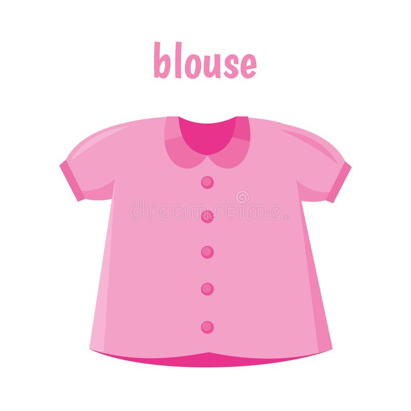 Blouse isolated royalty free illustration