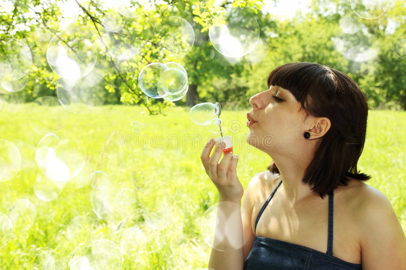 Download Blow bubble stock image. Image of childhood, park, fresh - 26199813