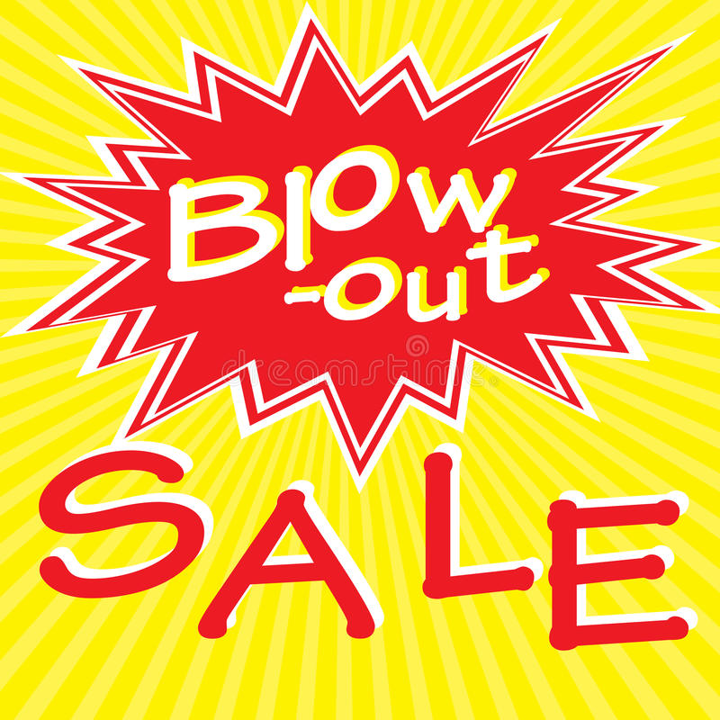 Blow-out sale royalty free illustration