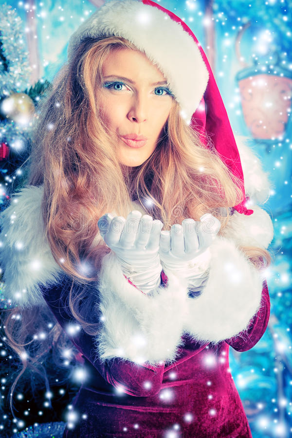 Download Blow snow stock photo. Image of maiden, fairy, flakes - 22355536