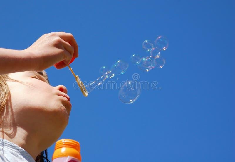 Blowbubblor Royaltyfria Bilder