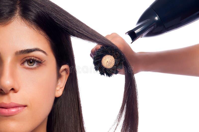 Blowdry dziewczyny włosy zdjęcie royalty free