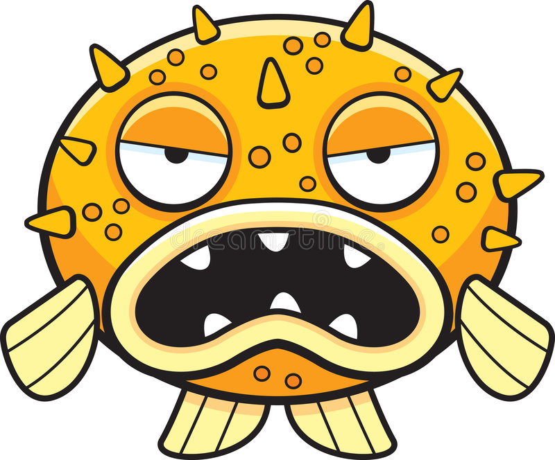 Blowfish illustration stock
