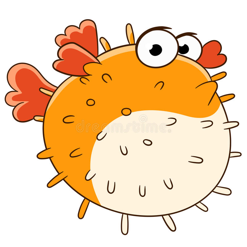 Blowfish triste illustration stock