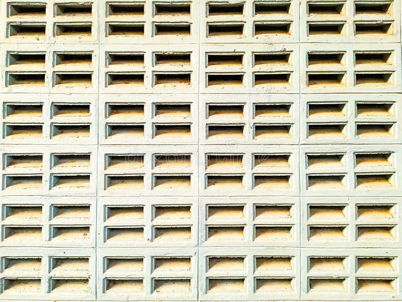 Blowhole brick wall stock images