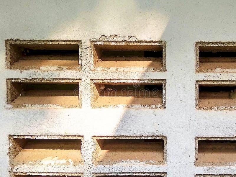 Blowhole brick wall closeup royalty free stock images