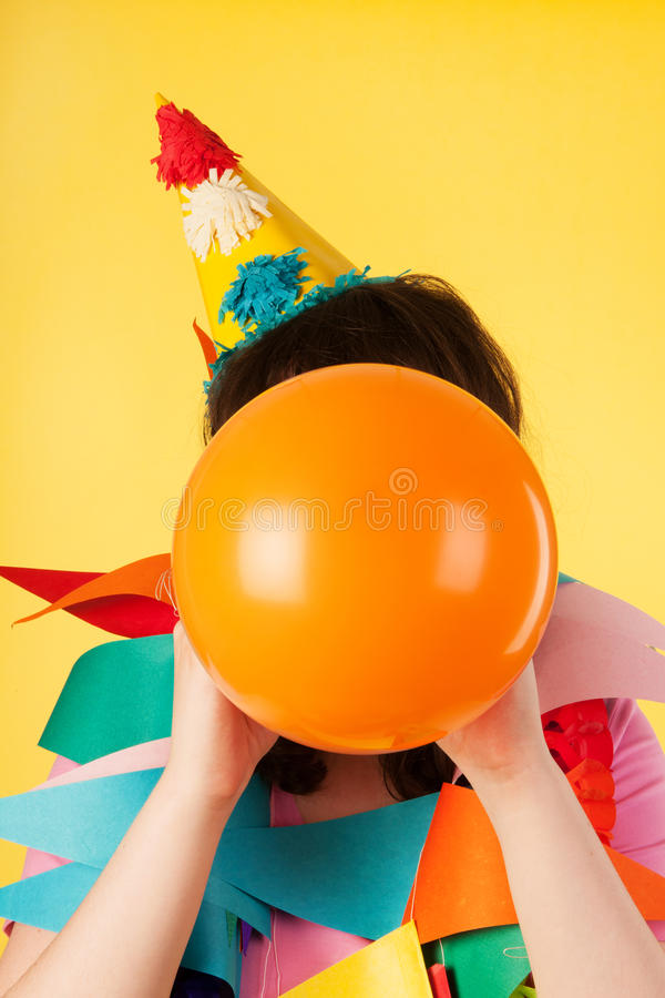 Download Blowing The Balloon Stock Images - Image: 26029214