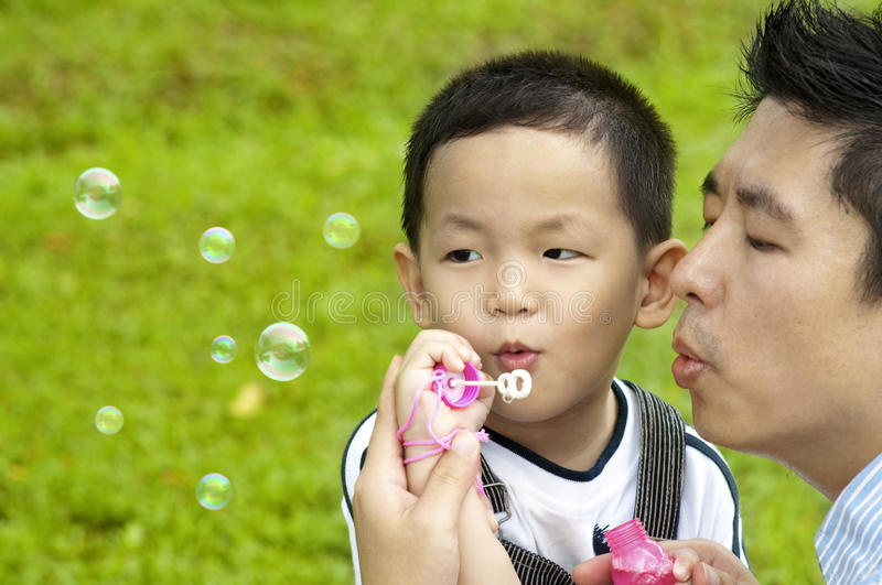 Download Blowing bubbles stock photo. Image of little, innocence - 20474224