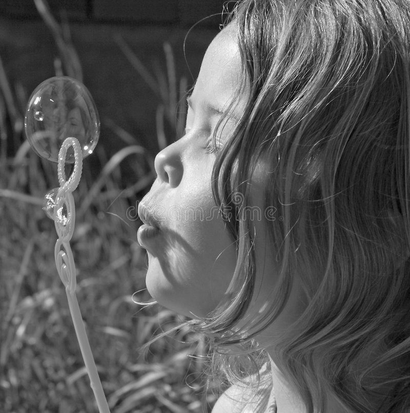 Blowing Bubbles royalty free stock photos