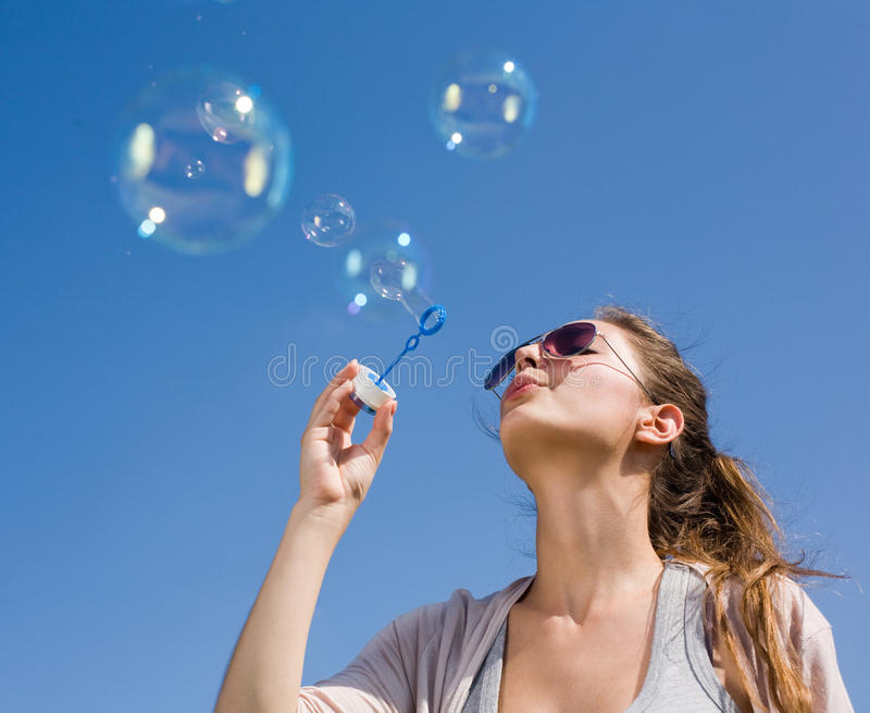 Download Blowing Bubbles Into The Sky. Stock Image - Image: 19618355