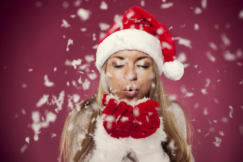 Download Blowing christmas snow stock image. Image of fragility - 33128175