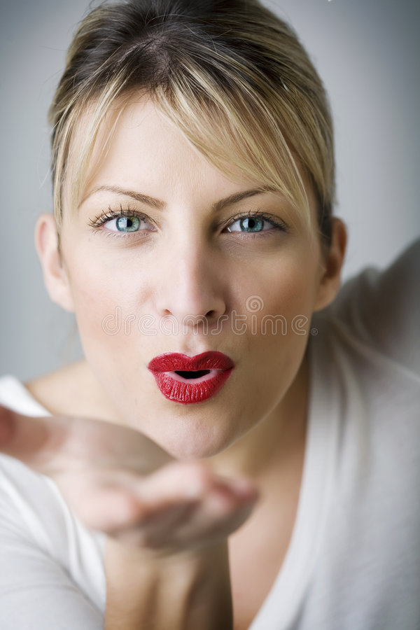 Blowing Kiss Royalty Free Stock Photo