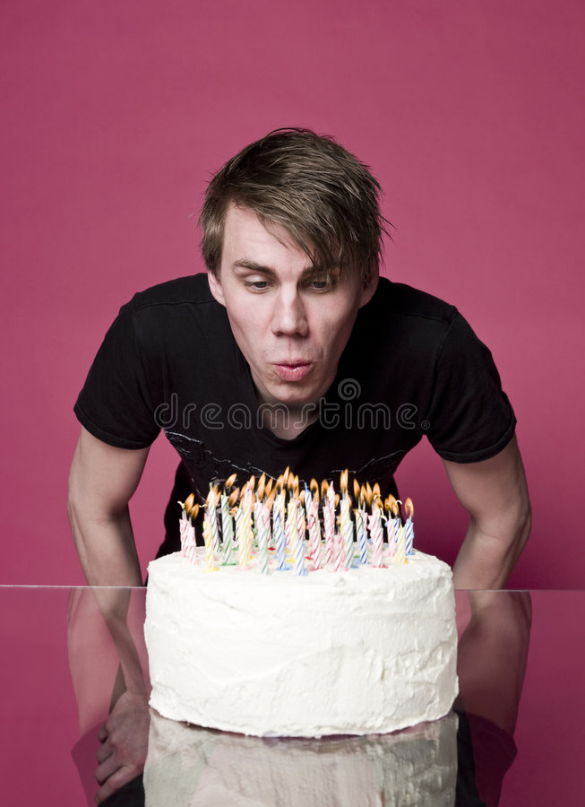 Free Blowing Out Candles Royalty Free Stock Image - 9069716