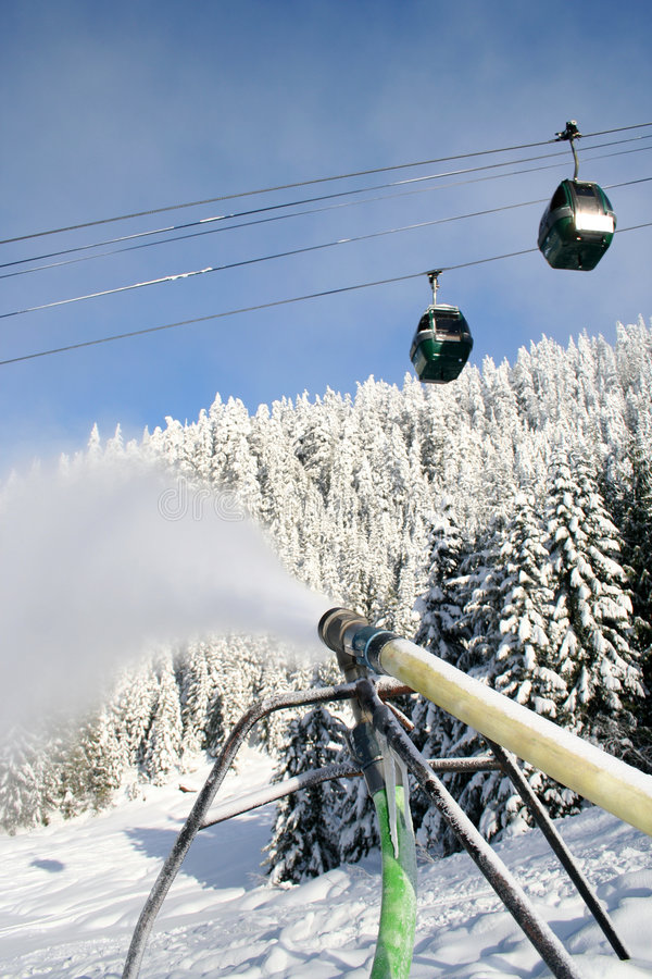 Blowing Snow Royalty Free Stock Image