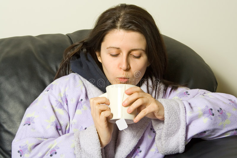 Download Blowing tea stock photo. Image of cold, symptoms, congestion - 1758442