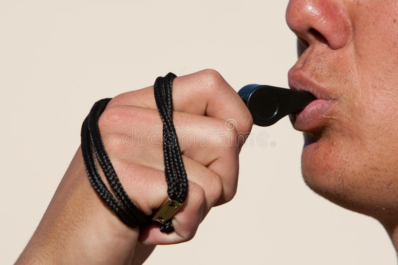 Download Blowing The Whistle Royalty Free Stock Photo - Image: 20909335