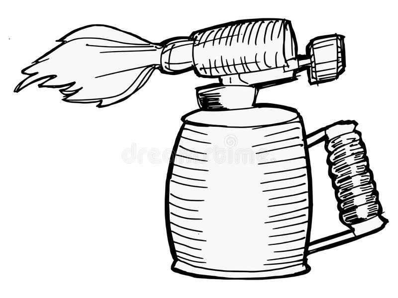 Download Blowlamp ilustracja wektor. Ilustracja złożonej z rdza - 28952118