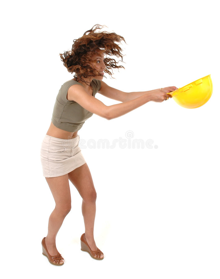 Download Blown Away stock photo. Image of cute, blowing, body, helmet - 1522732