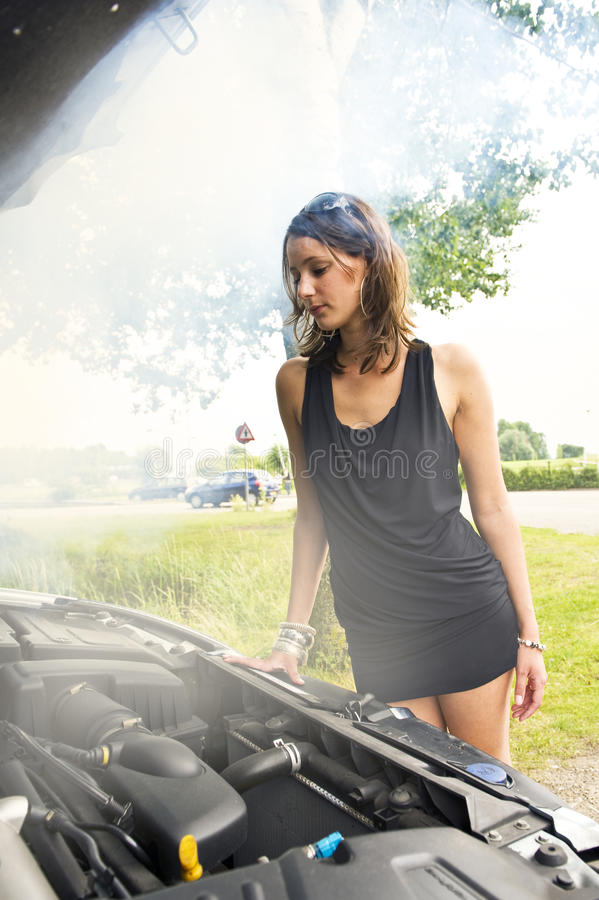 Download Blown engine stock image. Image of under, woman, determined - 13103991