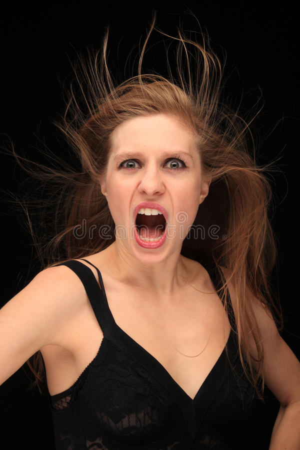 Blown hair royalty free stock photography