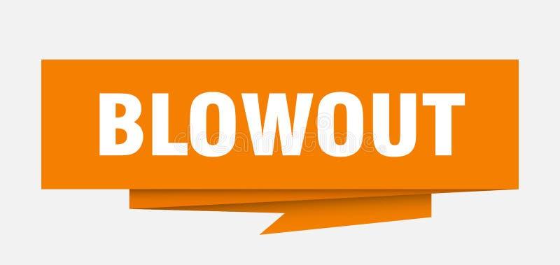 blowout ilustração stock