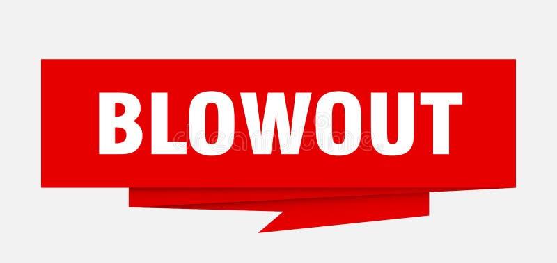 blowout ilustração do vetor