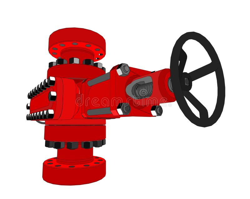 Blowout preventer. 3d illustration. Concept of the oil industry vector illustration