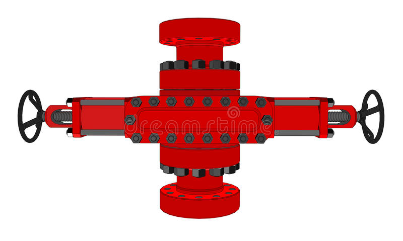 Blowout preventer. Vector. Rendering of 3d. Concept of the oil industry vector illustration