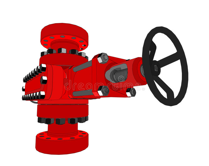 Blowout preventer. Vector. Rendering of 3d. Concept of the oil industry royalty free illustration