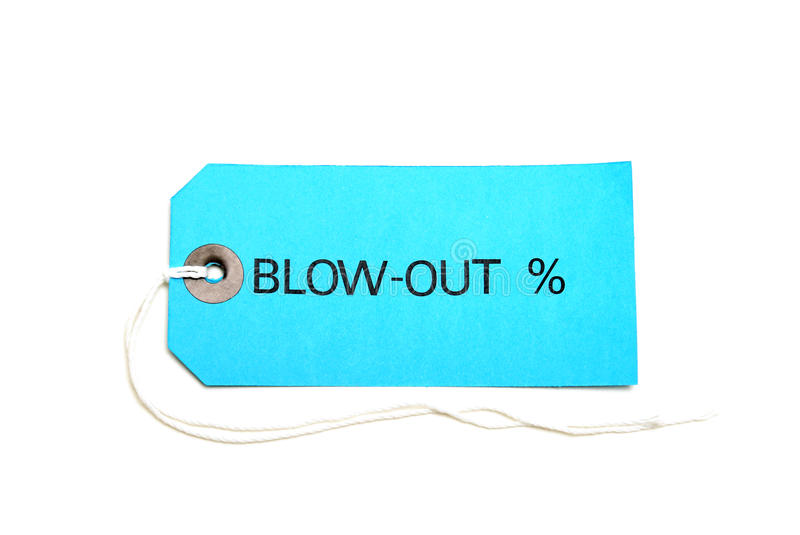 Download Blowout Sale Tag stock photo. Image of paper, retail - 19577854