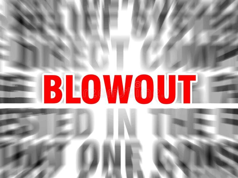 blowout ilustração royalty free