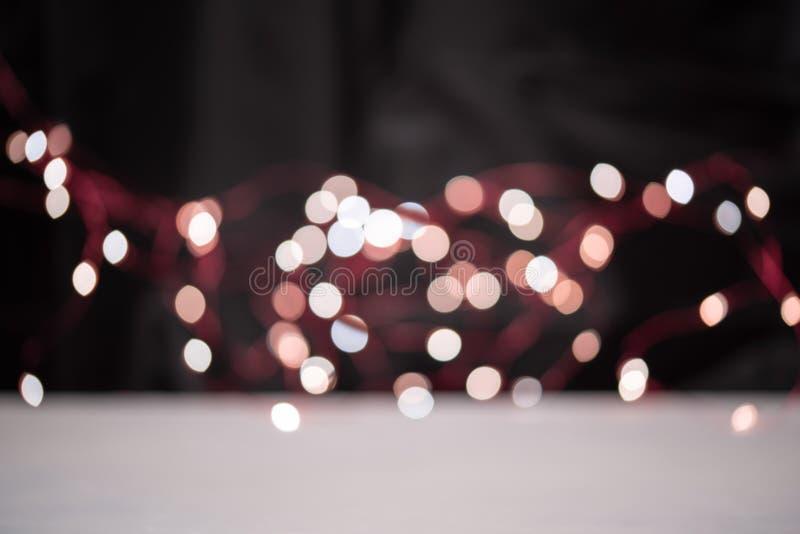 Blsck bakgrund med ljus bokeh royaltyfri foto
