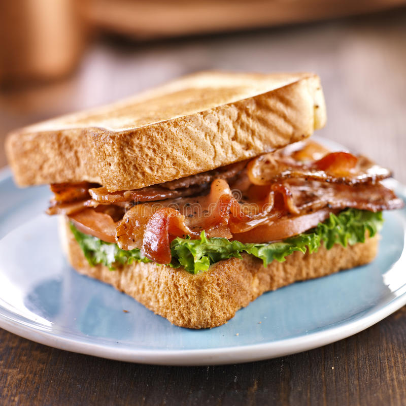 Free BLT Bacon Lettuce Tomato Sandwich Royalty Free Stock Image - 30670126